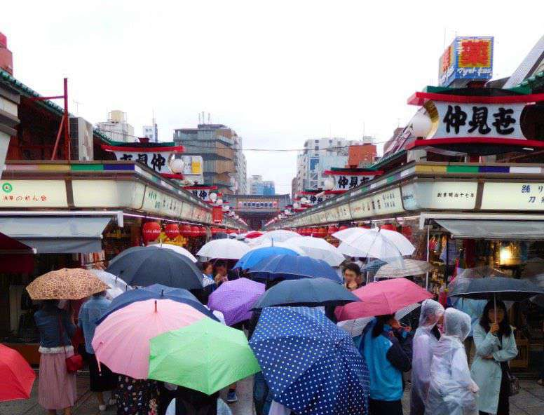 The street market in Asakusa leading to the temple - great fun!