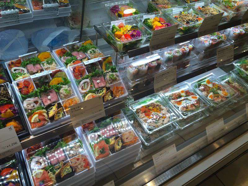 Ready-made bento-style boxes of fish, meat and almost anything you can imagine