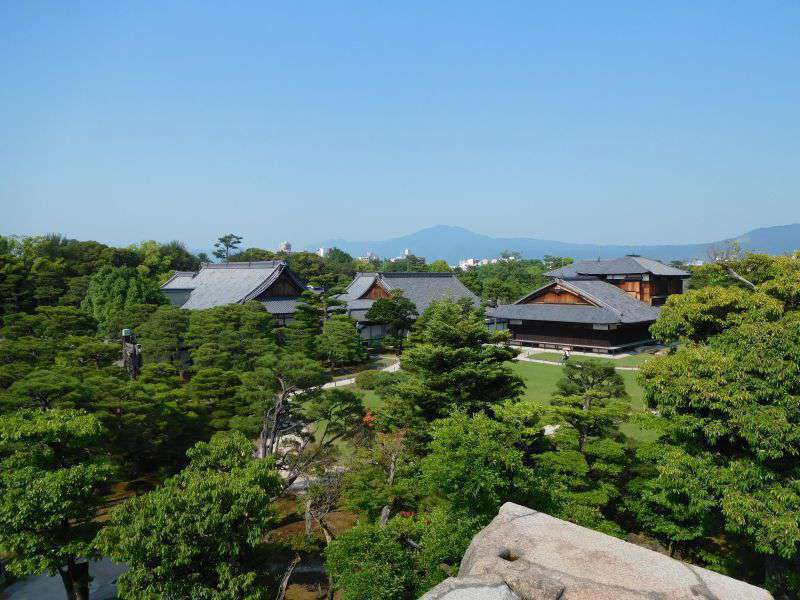 View from the donjon at Njio Castle, Kyoto