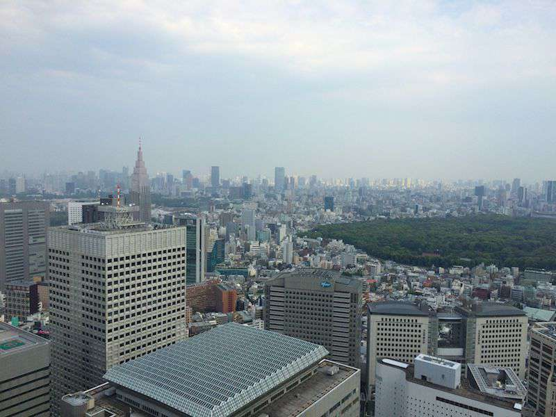 Rooftop views of Tokyo from the Metropolitan Government Building